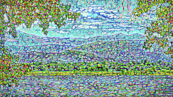 Digital Art - Turquoise Sky Afternoon by Joel Bruce Wallach