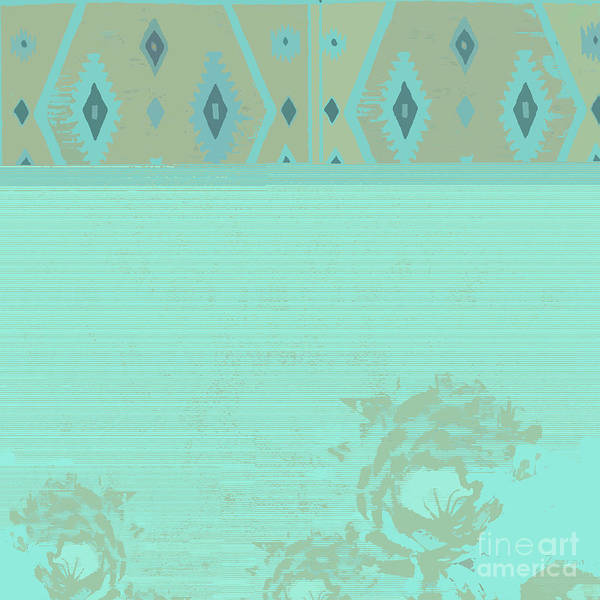 Wall Art - Mixed Media - Turquoise Soft by Zsanan Studio