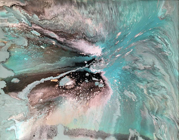 Wall Art - Painting - Turquoise Surf by Alynne Landers