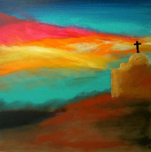 Painting - Turquoise Trail Sunset by Keith Thue