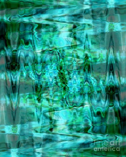 Photograph - Turquoise Treasure Abstract Design by Carol Groenen