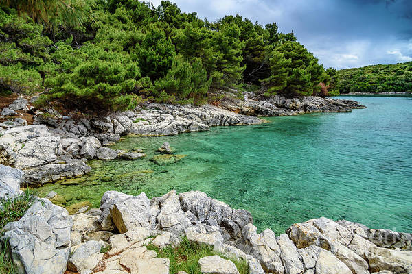 Photograph - Turquoise Water Of Rab, Croatia by Global Light Photography - Nicole Leffer