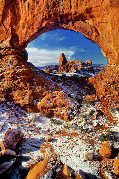 Photograph - Turret Arch Through North Window Arches National Park Utah by Dave Welling