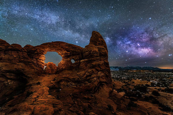 Photograph - Turret Arch Under The Milky Way by Michael Ash