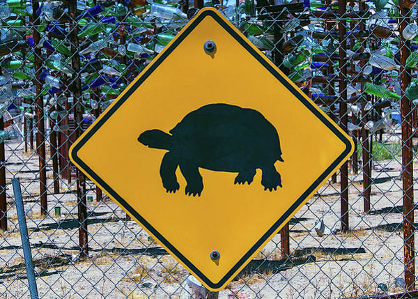 Wall Art - Photograph - Turtle Crossing Sign by Garry Gay