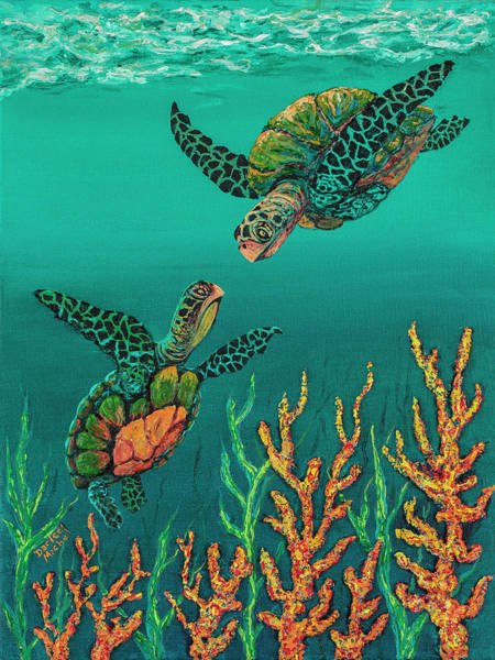 Painting - Turtle Love by Darice Machel McGuire