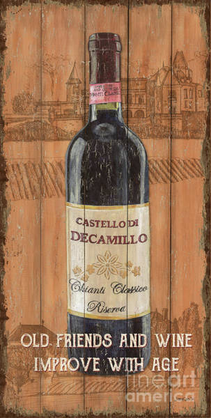 Label Painting - Tuscan Chianti 1 by Debbie DeWitt