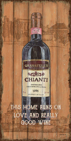 Wall Art - Mixed Media - Tuscan Chianti 2 by Debbie DeWitt
