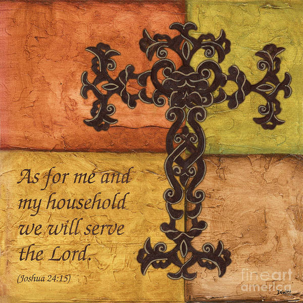 Bible Wall Art - Painting - Tuscan Cross by Debbie DeWitt