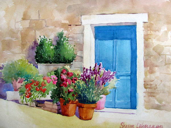 Painting - Tuscan Doorway by Sharon Lehman