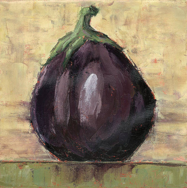 Tuscan Painting - Tuscan Eggplant by Pam Talley