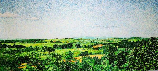 Organic Drawing - Tuscan Long View by Jason Charles Allen