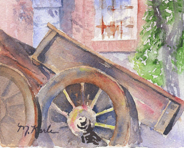Painting - Tuscan Ox Cart by Marsha Karle