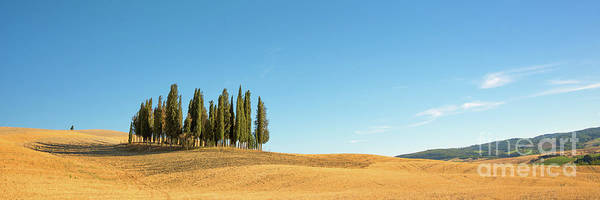 Siena Photograph - Tuscan Panorama by Delphimages Photo Creations