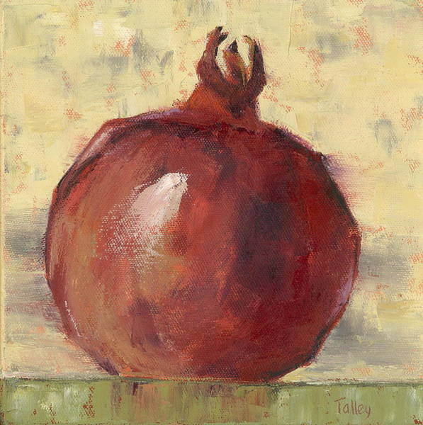 Tuscan Painting - Tuscan Pomegranate by Pam Talley