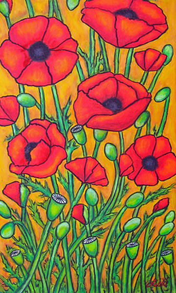 Painting - Tuscan Poppies - Crop 2 by Lisa  Lorenz