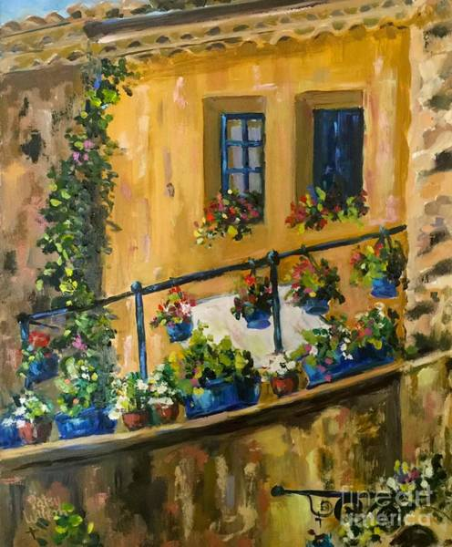 Painting - Tuscan Porch by Patsy Walton