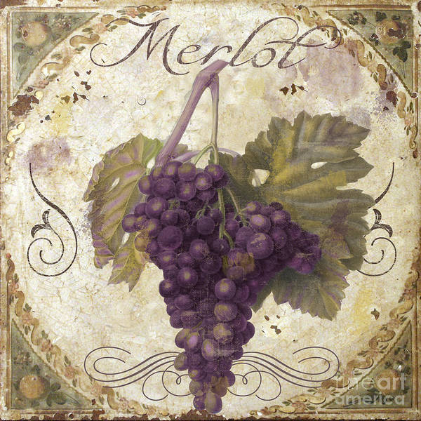 Tuscan Painting - Tuscan Table Merlot by Mindy Sommers