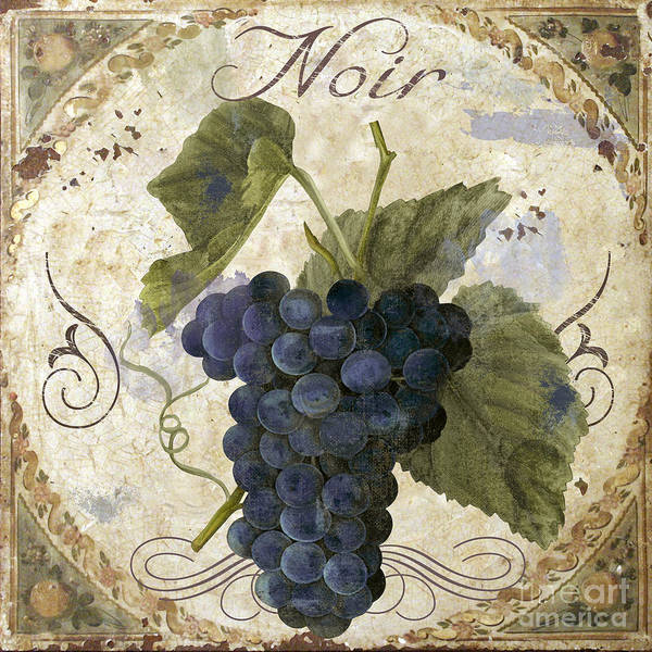 Wall Art - Painting - Tuscan Table Pinot Noir by Mindy Sommers