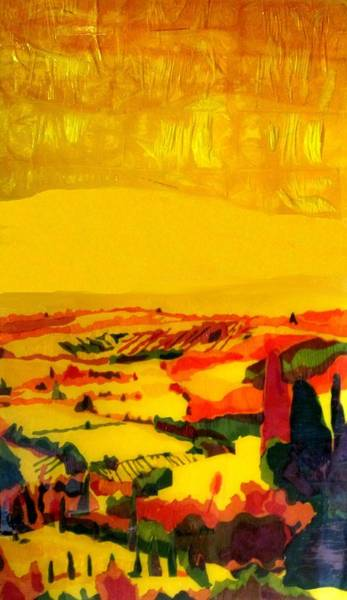 Mono Painting - Tuscan View In Resin by Jason Charles Allen