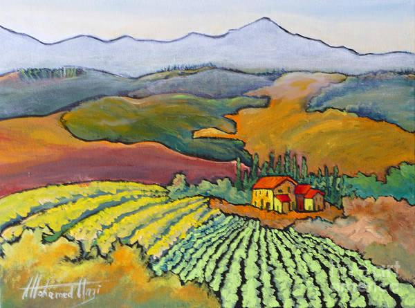 Beautiful Scenery Painting - Tuscan Vineyard by Mohamed Hirji