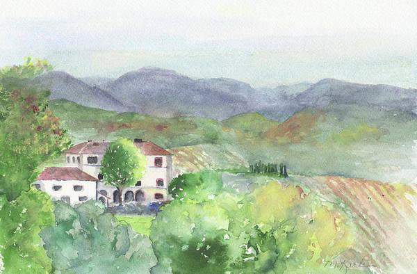 Painting - Tuscan Vineyards by Marsha Karle