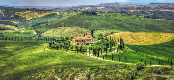 Photograph - Tuscany Hills  Painting-like Landscape Road by Luca Lorenzelli
