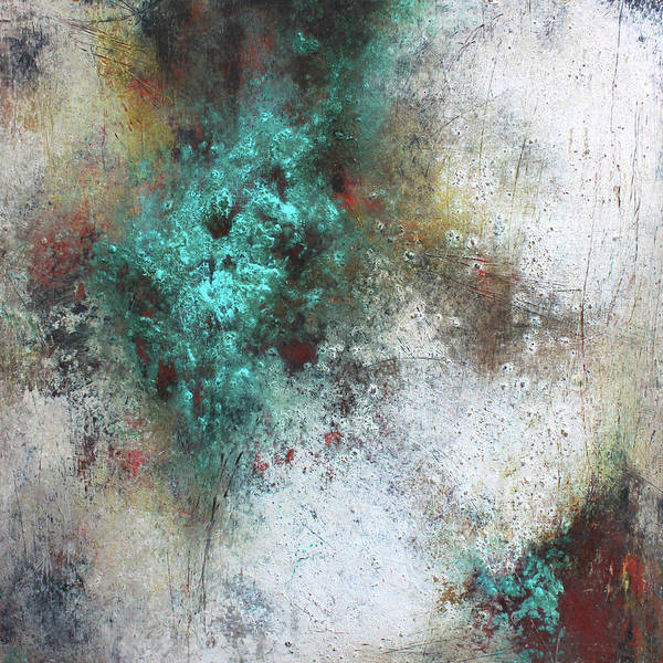 Teal Mixed Media - Tuscany Oil And Cold Wax by Patricia Lintner