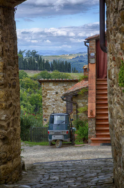 Photograph - Tuscany Scooter by Kathy Adams Clark