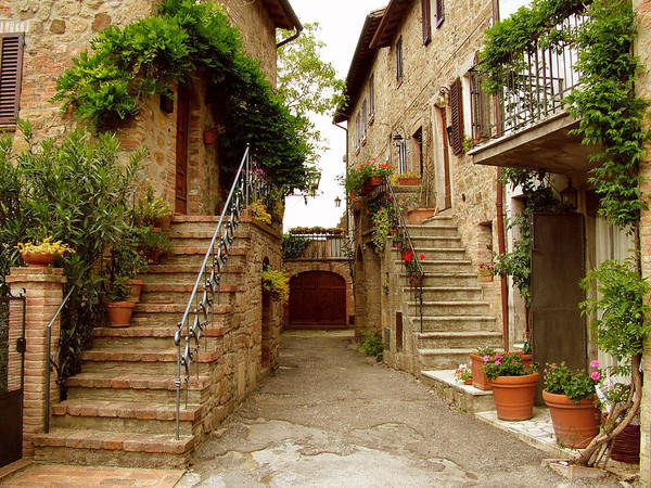 Photograph - Tuscany Stairways by Donna Corless
