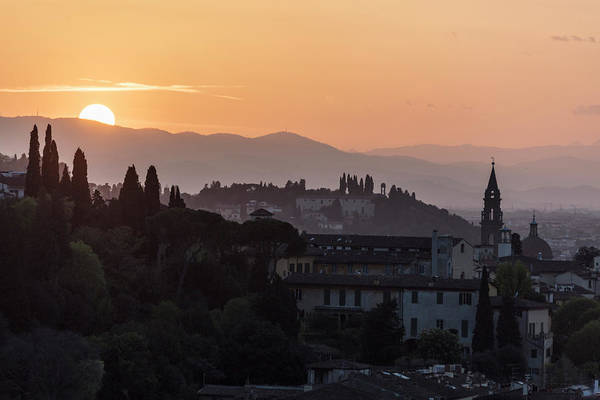 Photograph - Tuscany Sunset In Florence Italy  by John McGraw