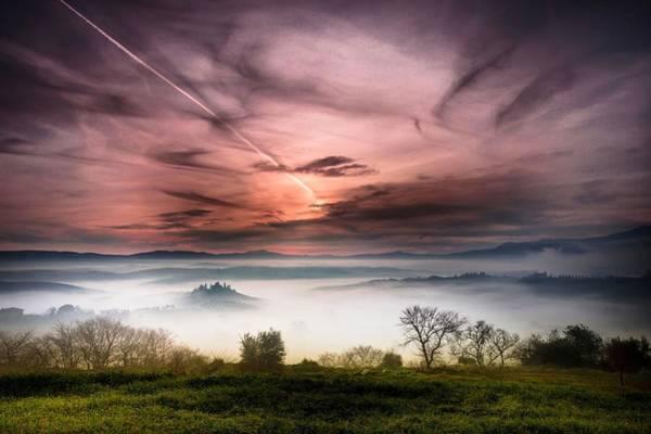Sunset Digital Art - Tuscany by Super Lovely