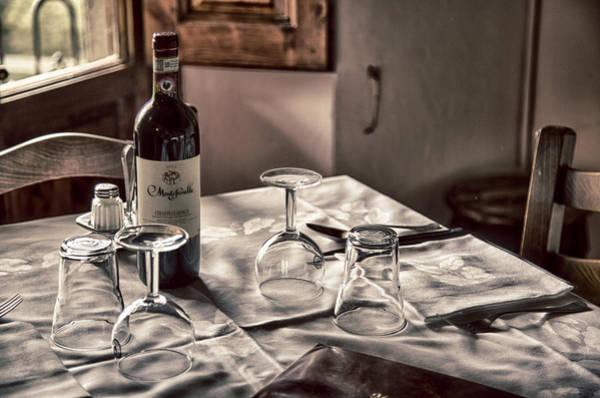 Photograph - Tuscany Table 2 by Kathy Adams Clark