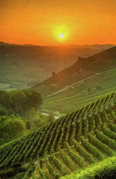 Painting - Tuscany Vineyards - 08 by Andrea Mazzocchetti