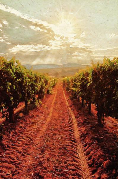 Painting - Tuscany Vineyards - 09 by Andrea Mazzocchetti