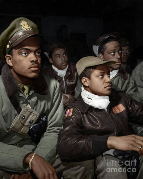 Photograph - Tuskeegee Airmen, 1945 by Granger