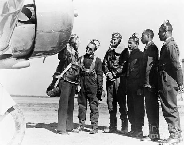 Army Air Corps Photograph - Tuskegee Airmen, 1942 by Granger