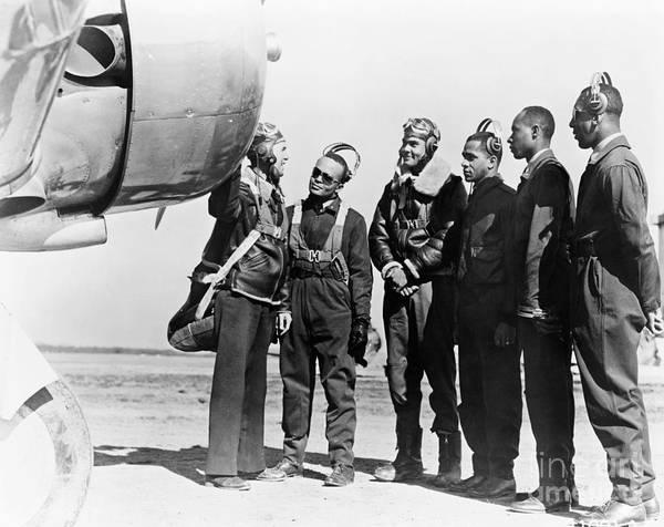 Photograph - Tuskegee Airmen, 1942 by Granger