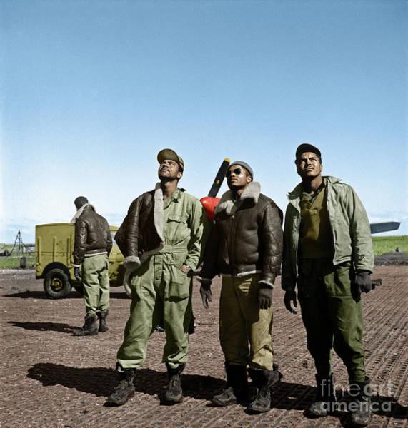 Photograph - Tuskegee Airmen by Granger