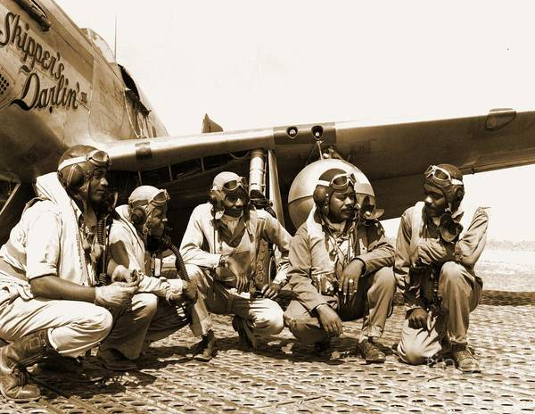 Wall Art - Painting - Tuskegee Airmen by Pd