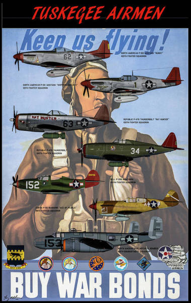 Wall Art - Digital Art - Tuskegee Airmen Poster by Tommy Anderson