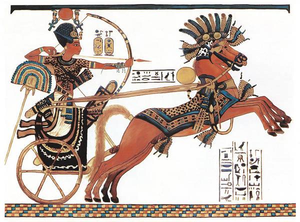 Pharaoh Painting - Tutankhamun In His Chariot by Ben  Morales-Correa
