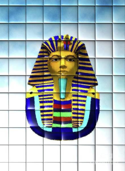 Pharaoh Painting - Tutankhamun by Mary Bassett