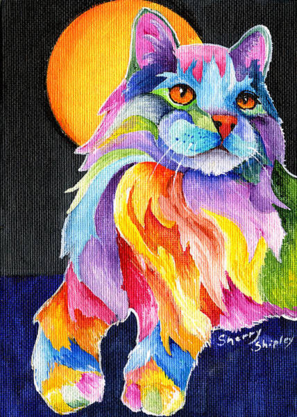 Painting - Tutti Fruiti Kitty by Sherry Shipley