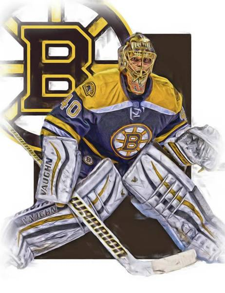 Wall Art - Mixed Media - Tuukka Rask Boston Bruins Oil Art 1 by Joe Hamilton