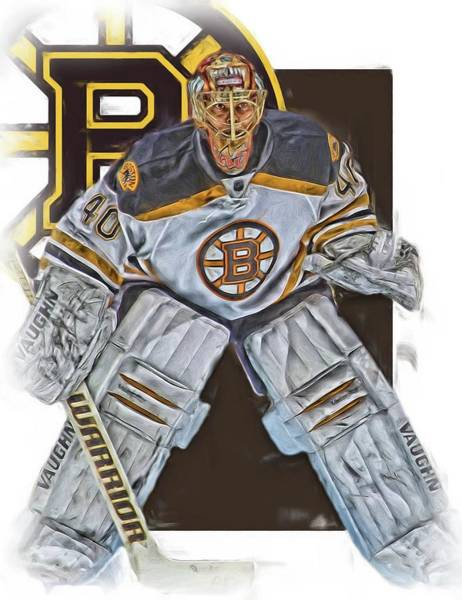 Wall Art - Mixed Media - Tuukka Rask Boston Bruins Oil Art 2 by Joe Hamilton