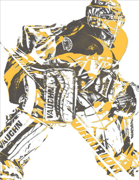 Wall Art - Mixed Media - Tuukka Rask Boston Bruins Pixel Art 1 by Joe Hamilton