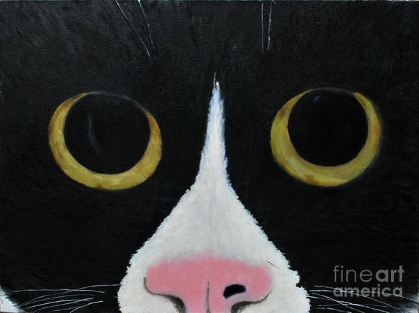 Painting - Tux Portrait  by Reina Resto