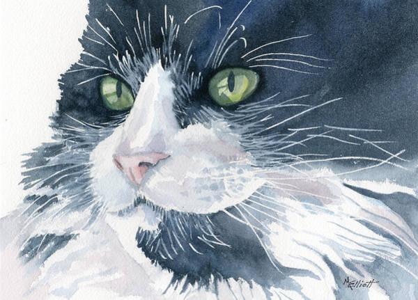 Tuxedo Cat Painting - Tuxedo by Marsha Elliott