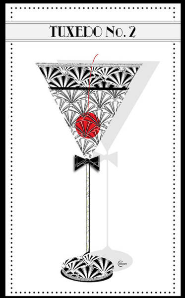 Digital Art - Tuxedo No. 2 Deco Swing Cocktail by Cecely Bloom
